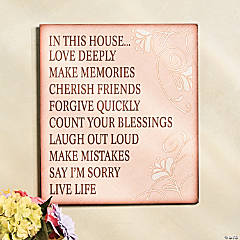 """In This House"" Sign"