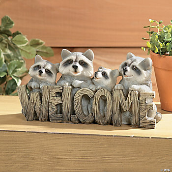 """Welcome"" Raccoon Sign"