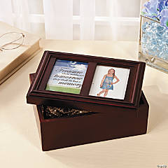 Jewelry Box with Photo Frame Lid