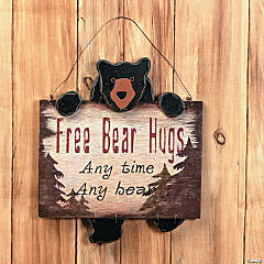 """Free Bear Hugs"" Sign"