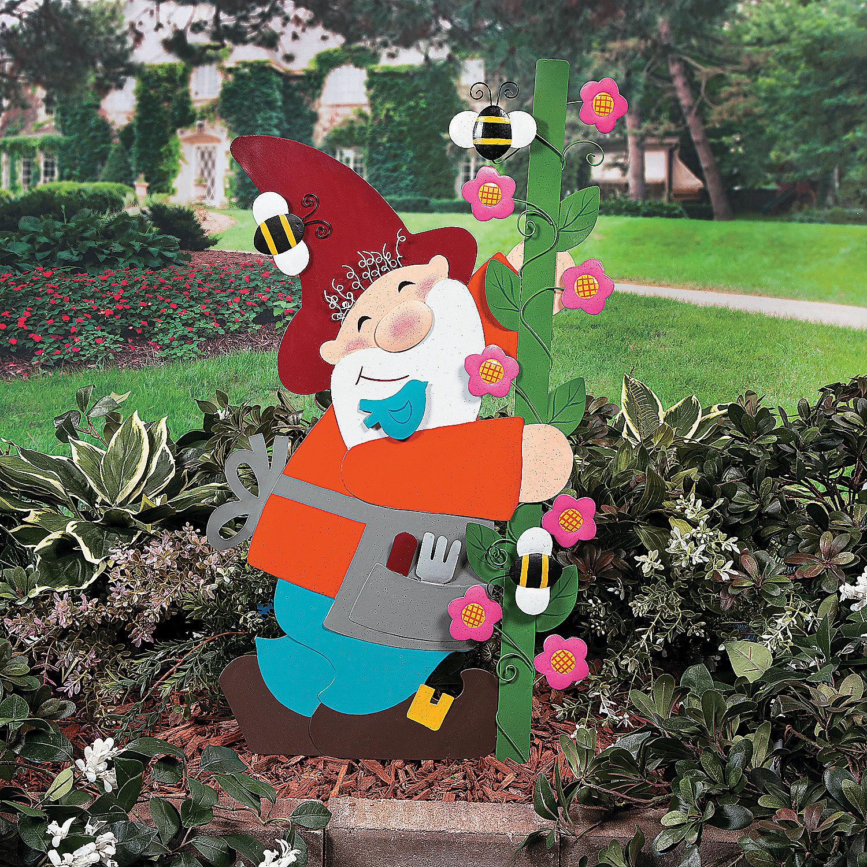 Gnome Yard Stake Party Supplies Outdoor Decor Garden