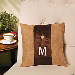 Pillow with Monogrammed Band