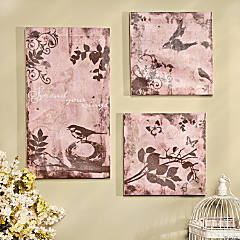 Bird Print Canvases