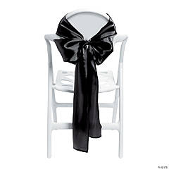 Black Satin Chair Bows