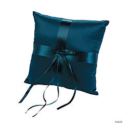Navy Wedding Ring Pillow
