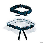 Navy Wedding Garter Set