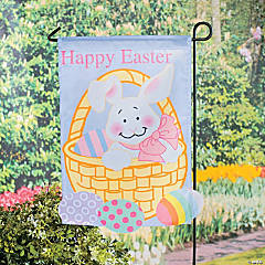 Mini Easter Yard Flag With Stake