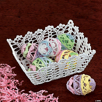 Crocheted Eggs & Basket