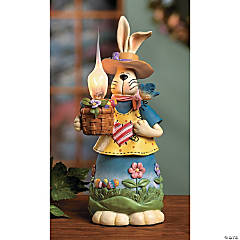 Bunny with Old-Fashioned Candle Light