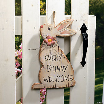 """Every Bunny Welcome"" Sign"