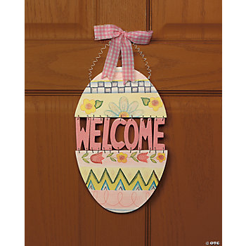 "Easter Egg ""Welcome"" Sign"