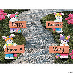 """Hoppy Easter!"" Yard Stakes"