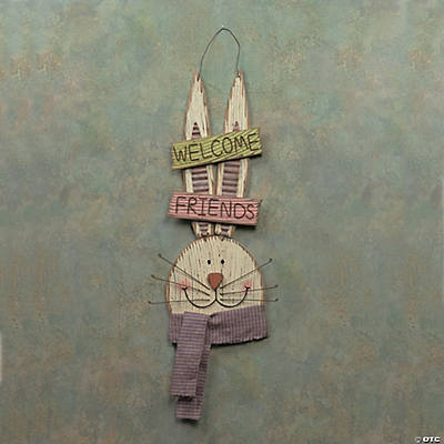 """Welcome Friends"" Bunny Sign"
