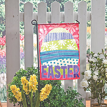 Easter Garden Flag Oriental Trading Discontinued