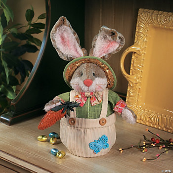 Plush Easter Bunny Candy Basket