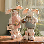 Standing Bunny Girl and Boy with Slippers