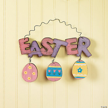 Easter Wall Hanging with Eggs