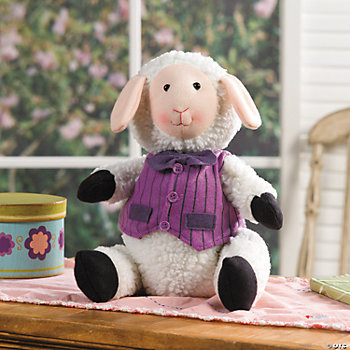 Plush Lamb with Purple Vest