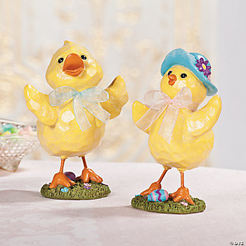 Vintage Duck & Chick Pair