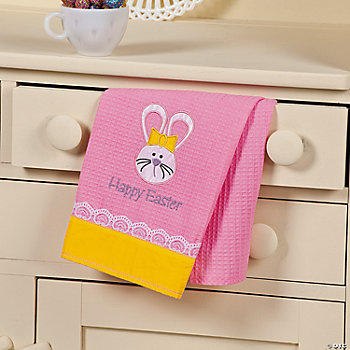 """Happy Easter"" Dish Towel"