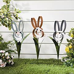 Bunny Swirl Yard Stakes