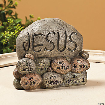 """Jesus"" Stones Tabletopper"