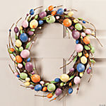 Bright Glittered Egg Wreath