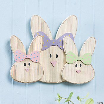 Rabbit Family Wall Décor