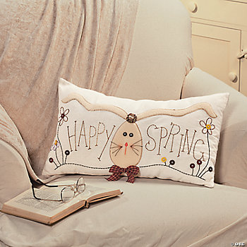"""Happy Spring"" Pillow"