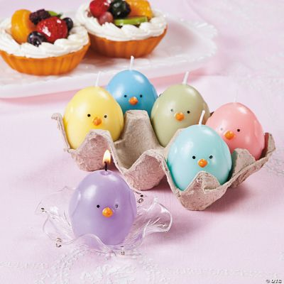 Chick Candles in Egg Crate