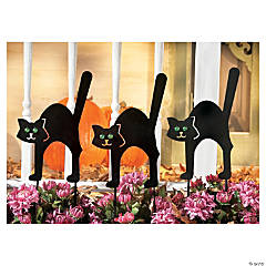 Black Cat Yard Stakes