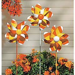 Candy Corn Pinwheel Yard Stakes