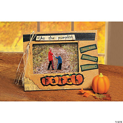 """At the Pumpkin Patch"" Picture Frame"