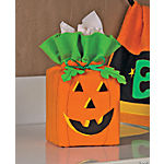 Jack-O'-Lantern Tissue Box Cover