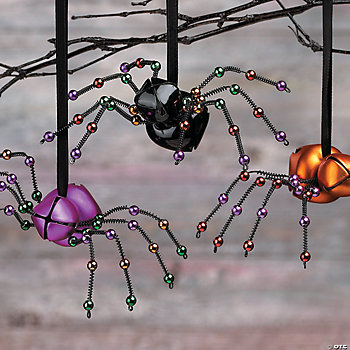 Jingly-Jangly Spider Ornaments