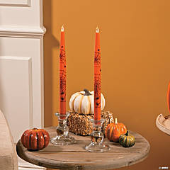 Halloween Battery-Operated Taper Candles