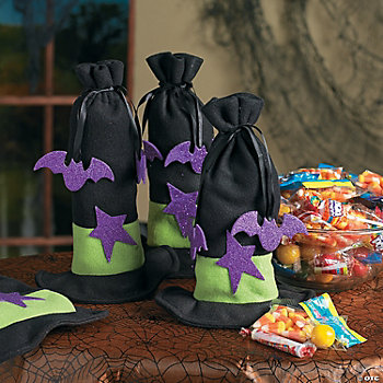 Witch Hat Halloween Treat Bags