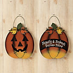 Reversible Thanksgiving & Halloween Sign