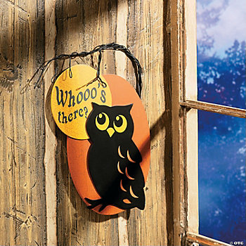"""Whooo's There?"" Owl Sign"