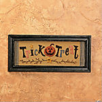 """Trick or Treat"" Sign"