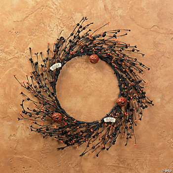 Halloween Wreath with Jingle Bells