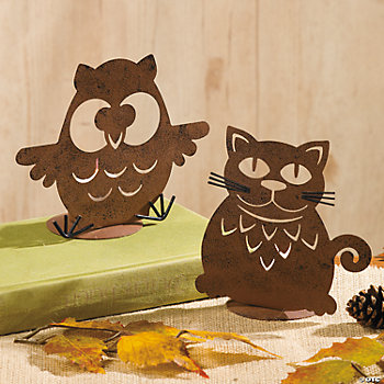 Owl & Cat Lantern Votive Holders