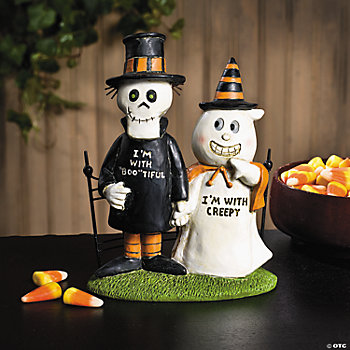 """I'm with Creepy"" Figurine"