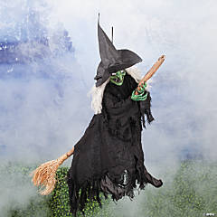 Hanging Witch Riding On Broom