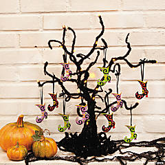 Halloween Glittered Ornaments