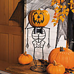 Skeleton Pumpkin Holder