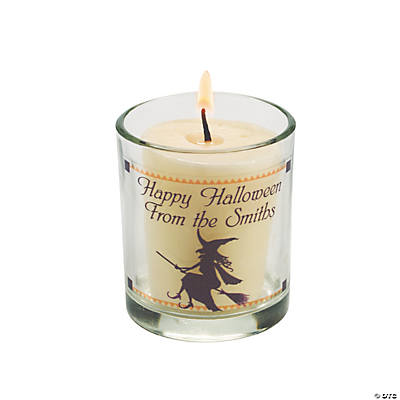 Personalized Silhouette Halloween Votives