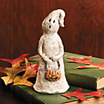 Glittered Ghost with Pumpkin Basket