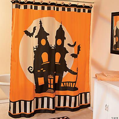 Halloween Silhouette Shower Curtain Party Supplies Bath Home Decor Oriental Trading