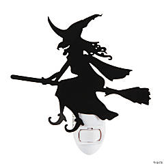 Halloween Silhouette Witch Night Light